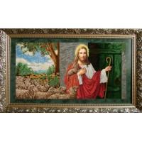 """Рисунок на канве для вышивания бисером """"Иисус стучится в двери"""""""