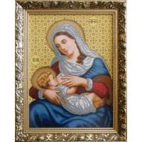 """Рисунок на канве для вышивания бисером """"Богородица кормящая (большая)"""""""