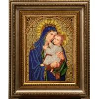 """Рисунок на канве для вышивания бисером """"Богородица с горы Кармель"""""""
