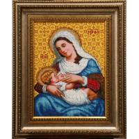"""Рисунок на канве для вышивания бисером """"Богородица кормящая (малая)"""""""