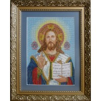 """Рисунок на канве для вышивания бисером """"Венчальная пара. Иисус (большой)"""""""