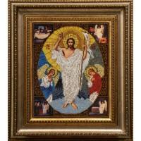 """Рисунок на канве для вышивания бисером """"Воскресение Христово"""""""