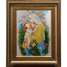"""Рисунок на канве для вышивания бисером """"Дева Мария Розария"""""""
