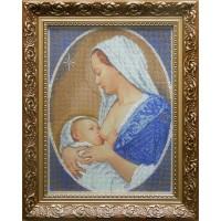 """Рисунок на канве для вышивания бисером """"Мадонна с младенцем (смирение)"""""""