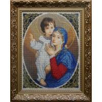 """Рисунок на канве для вышивания бисером """"Мадонна с младенцем (радость)"""""""