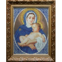 """Рисунок на канве для вышивания бисером """"Мадонна с младенцем (благородство)"""""""