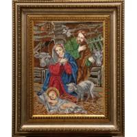 """Рисунок на канве для вышивания бисером """"Рождество Христово"""""""