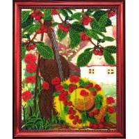 """Ткань для вышивания бисером """"Вишневый сад"""""""