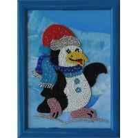 """Рисунок на ткани для вышивания бисером """"Пингвин"""""""