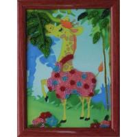 """Рисунок на ткани для вышивания бисером """"Жираф"""""""
