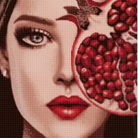 """Алмазная вышивка """"Девушка с фруктом 1"""""""