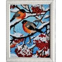 """""""Снегири"""" Рисунок на ткани"""
