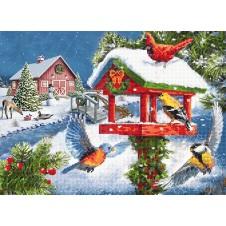 """Схема для вышивания бисером """"Зимний праздник"""""""