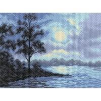 """Схема для вышивания крестиком  """"Ночной пейзаж"""""""