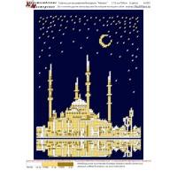 """Рисунок на ткани для вышивания бисером """"Мечеть"""""""