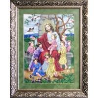 """Схемы бисером """"Иисус благословляет детей"""""""
