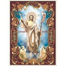 """Набор для вышивания бисером """"Воскресение христово в рамке"""" (Икона)"""