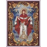 """Набор для вышивания бисером """"Покрова Пресвятой Богородицы в рамке"""" (Икона)"""