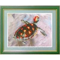 """Рисунок на ткани для вышивания бисером """"Морская черепаха"""""""