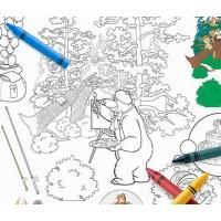 Скатерть-разукрашка серии Маша и Медведь «На привале»