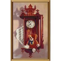 """Набор частичная вышивка крестиком """"Старинные часы"""""""