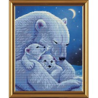 """Набор частичная вышивка крестиком """"Медведица с малышами"""""""
