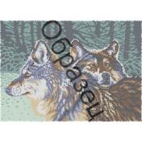 """Схема для вышивки бисером """"Волчья пара"""""""