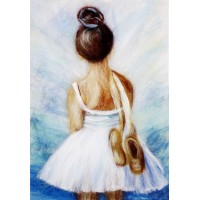 "Картина шерстью ""Маленькая балерина"""