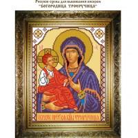 """Рисунок-схема для вышивания бисером """"Богородица Троеручица"""""""