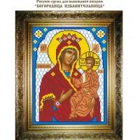 """Рисунок-схема для вышивания бисером """"Богородица Избавительница"""""""