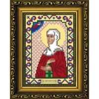 """Рисунок-схема для вышивания бисером """"Святая Преподобная Аполлинария (Полина, Алина)"""""""