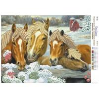 """Рисунок-схема для вышивания бисером """"Дружные лошадки """""""
