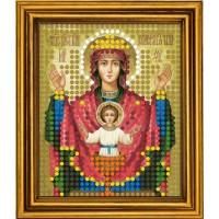 """Схема для вышивания бисером на атласе """"Неупиваемая Чаша Богородица"""""""