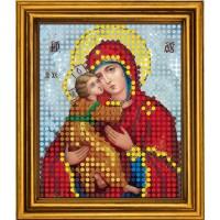 """Схема для вышивания бисером на атласе """"Владимирская Богородица"""""""
