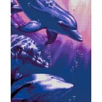 """Авторская схема для вышивания бисером """"Дельфины"""""""