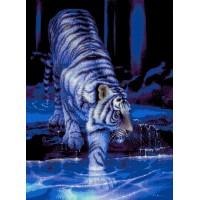 """Авторский набор для вышивания бисером """"Тигр в воде"""""""