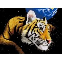 """Авторский набор для вышивания бисером """"Тигр планета"""""""