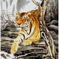 """Авторский набор для вышивания бисером """"Тигр в горах """""""