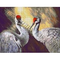 """Авторская схема для вышивания бисером """"Пара птиц"""""""