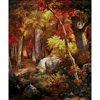 """Авторский набор для вышивания бисером """"Осенний лес"""""""