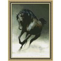 """Набор для вышивания крестиком """"Черный конь"""""""