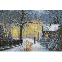 Картина стразами Зимний вечер V-16