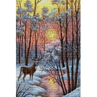 Картина стразами В лесу V-18