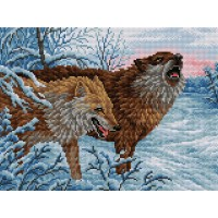 Картина стразами Волки V-1