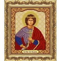 """Рисунок на ткани для вышивания бисером """"Св.Мч.Георгий Победоносец"""""""