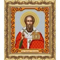 """Рисунок на ткани для вышивания бисером """"Св. Григорий Богослов"""""""