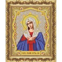 """Рисунок на ткани для вышивания бисером """"Серафимо-Дивеевская икона Божией Матери """"Умиление"""""""