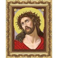 """Рисунок на ткани для вышивания бисером """"Иисус в терновом венце"""""""