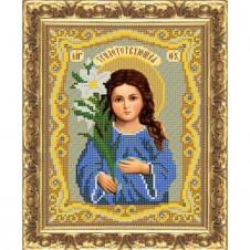"""Рисунок на ткани для вышивания бисером """"Богородица """"Трилетствующая"""""""