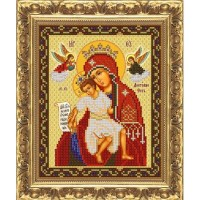 """Рисунок на ткани для вышивания бисером """"Богородица Милующая (Достойно есть)"""""""